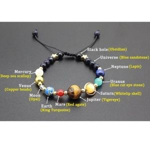 Unique Solar System Gemstone Bracelet
